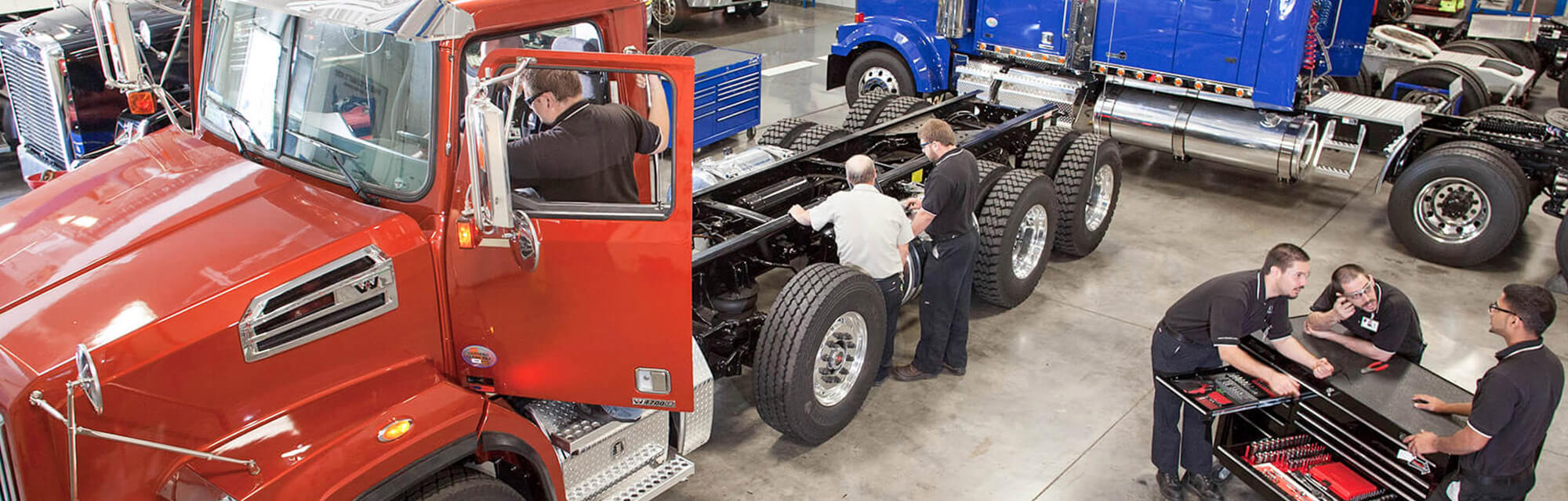 Diesel Students and Teachers Working Hands-on