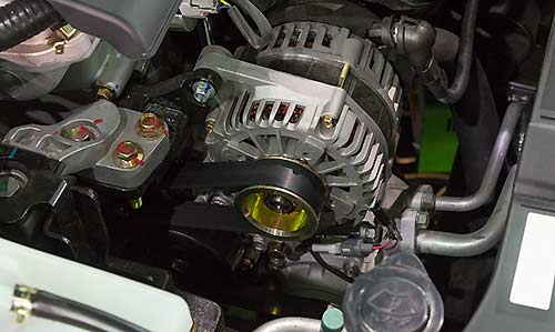 The alternator is responsible for generating electricity in your car's engine.