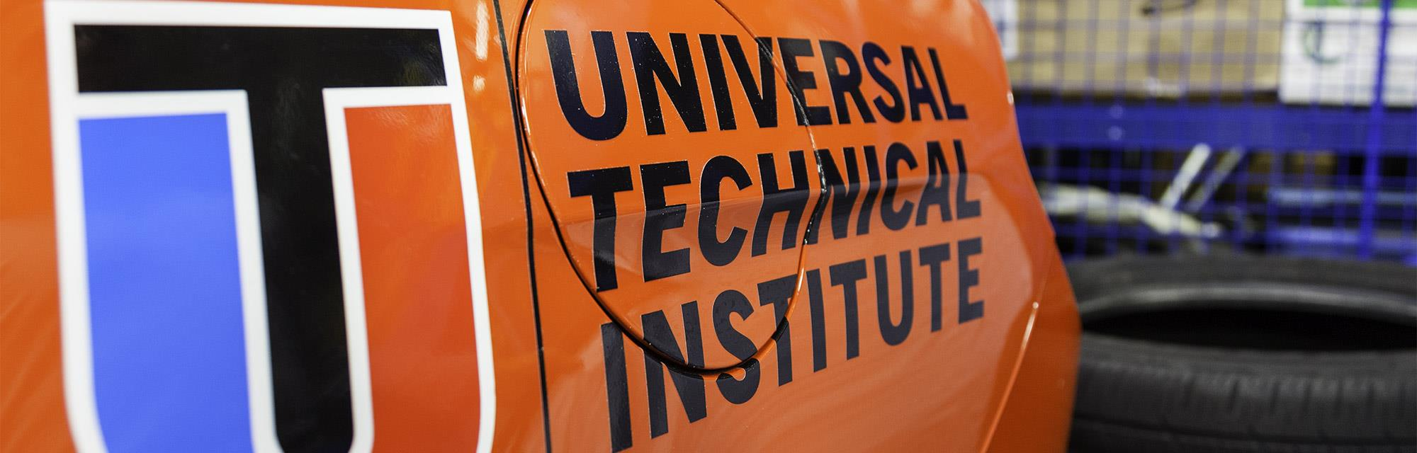 Universal Technical Institute logo branded on a car