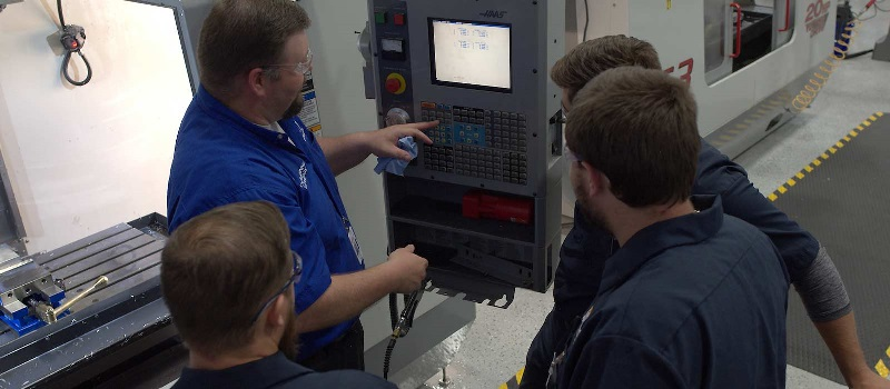 CNC students learn at a lab at NASCAR Technical Institute