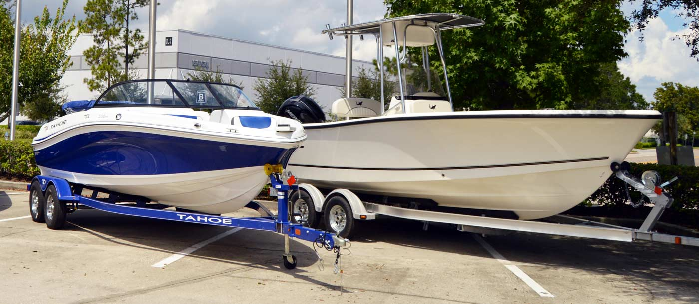 An image of boats in front of Marine Mechanics Institute in Orlando, Florida