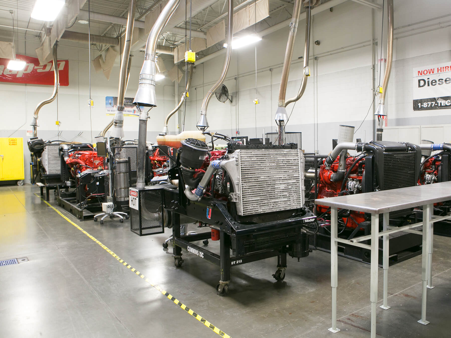 Diesel engines in the Diesel lab at Avondale Campus