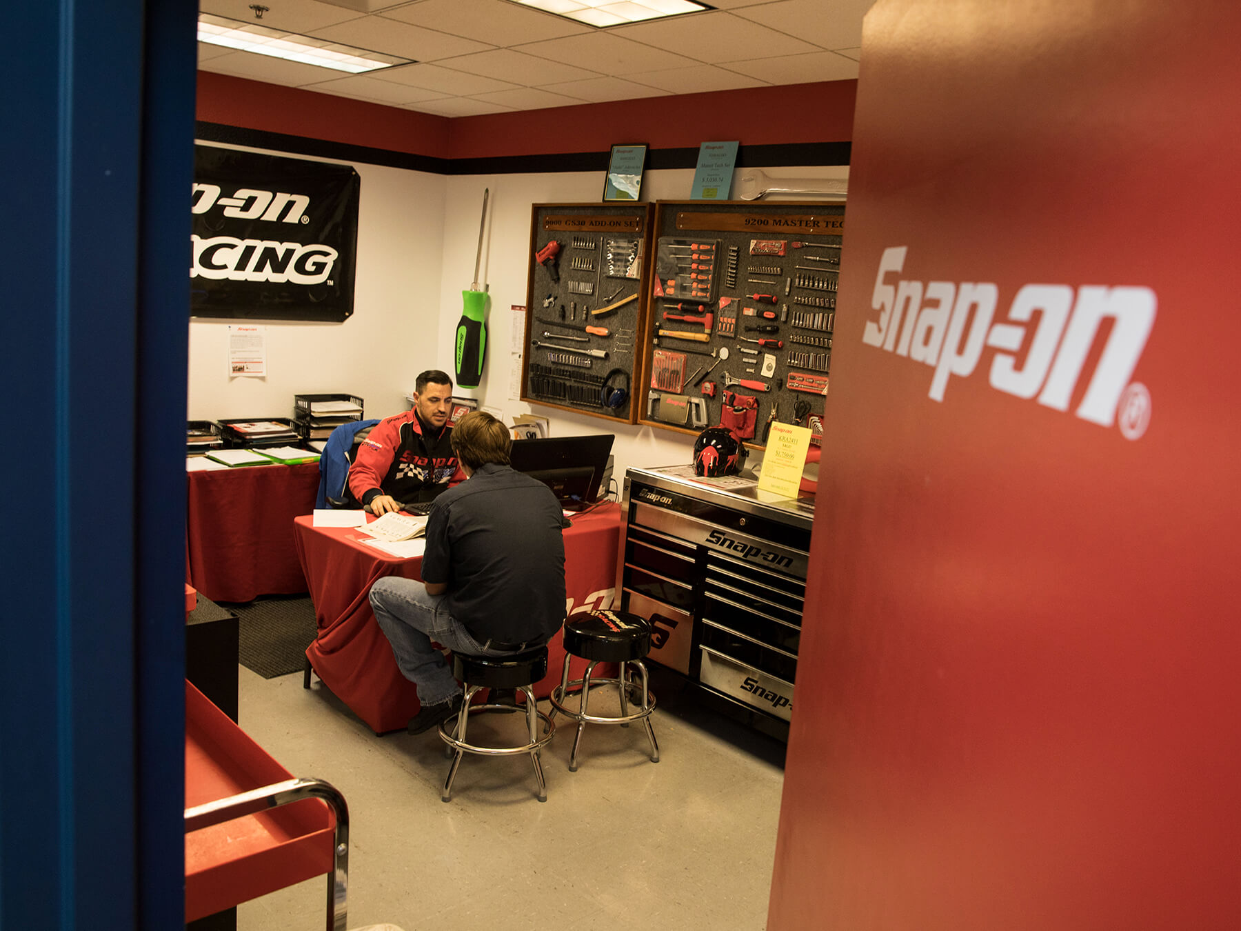 Interior photo of the SNAP-ON shop at Sacramento campus