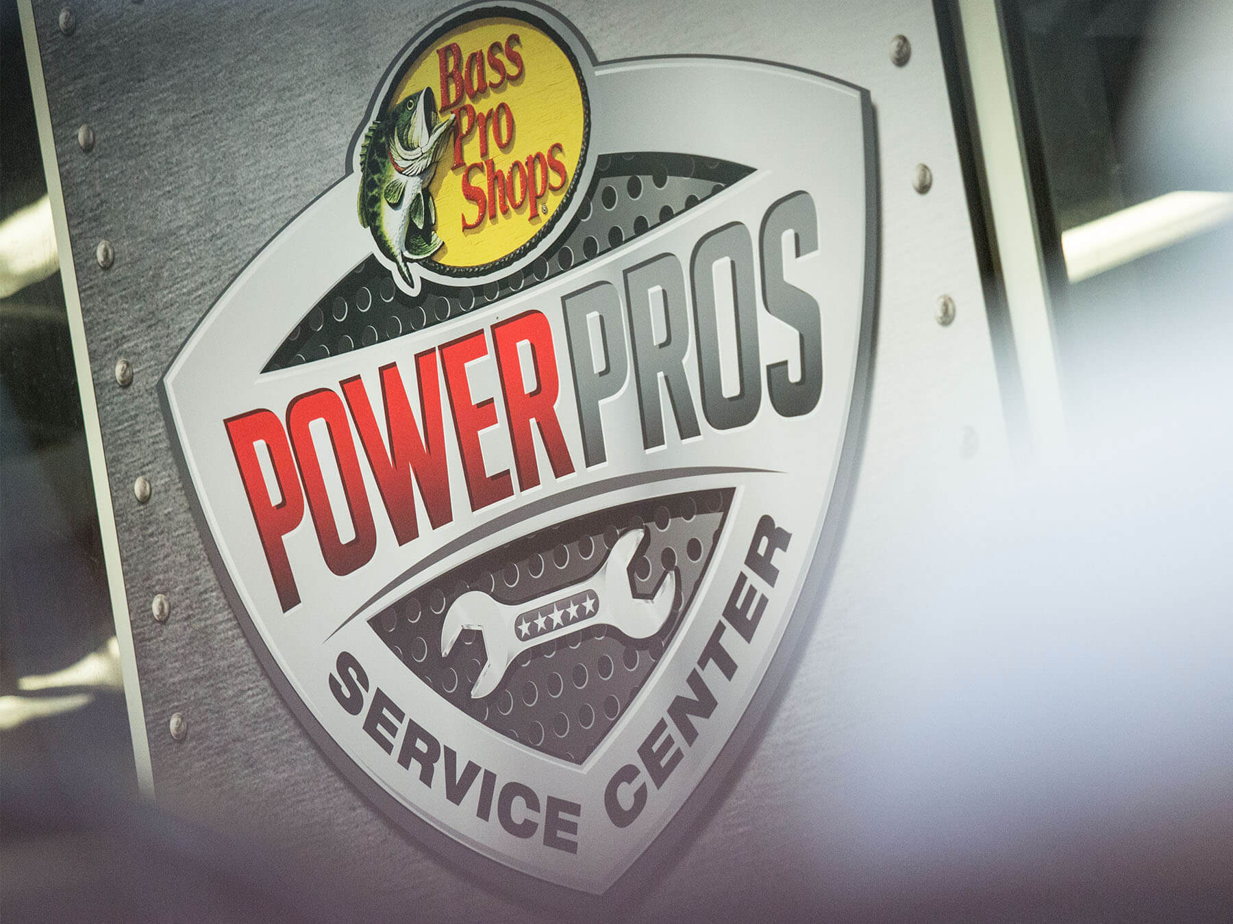 Bass pro shops power pros service center wall logo