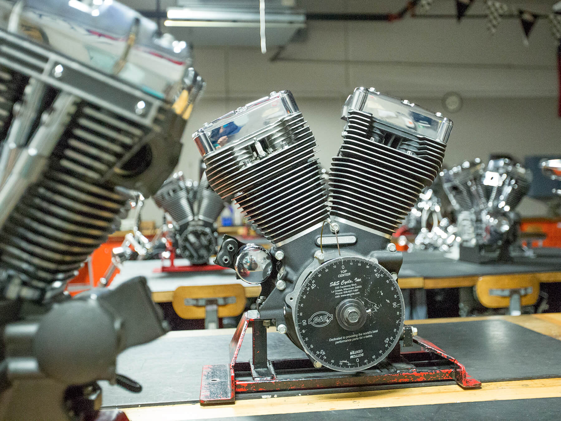Photo of a Motorcycle engine