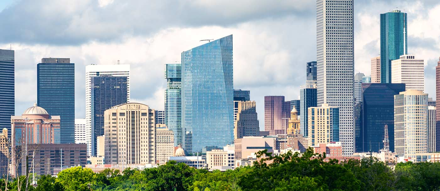 Image of the skyline in Houston, Texas