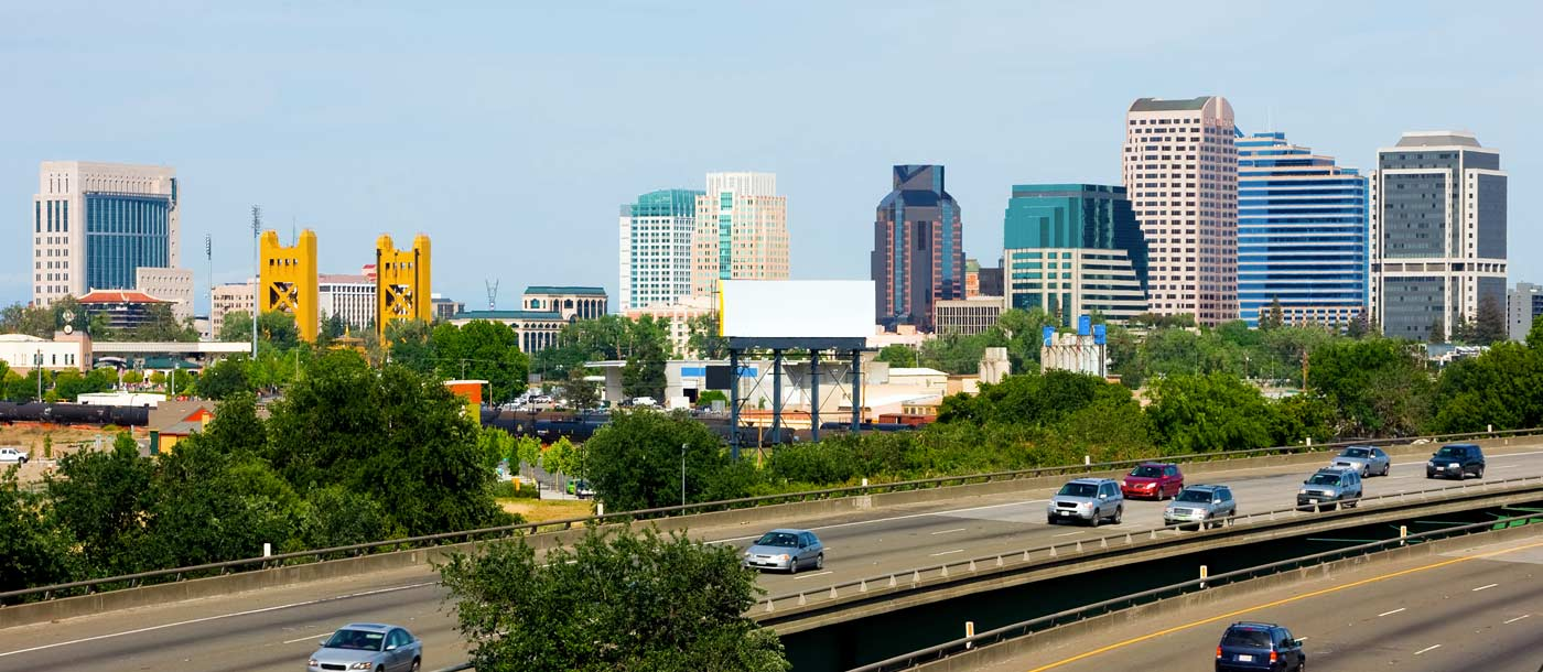 The skyline of Sacramento California which is home to UTI Sacramento