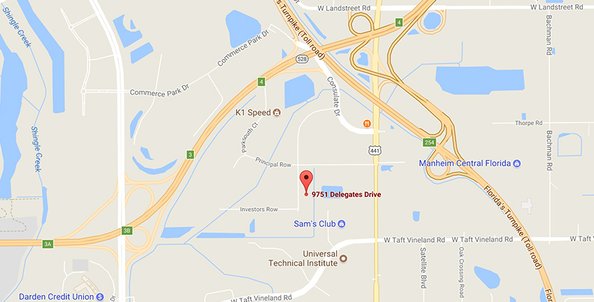 MMI Orlando marine campus location on google maps