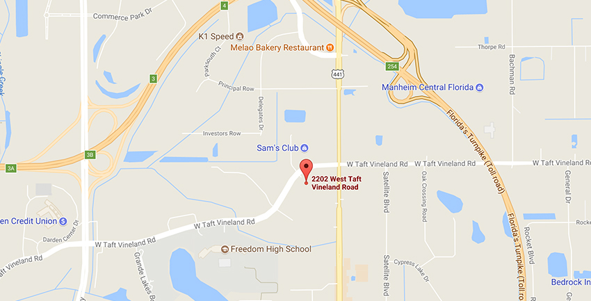 UTI orlando campus location on google maps