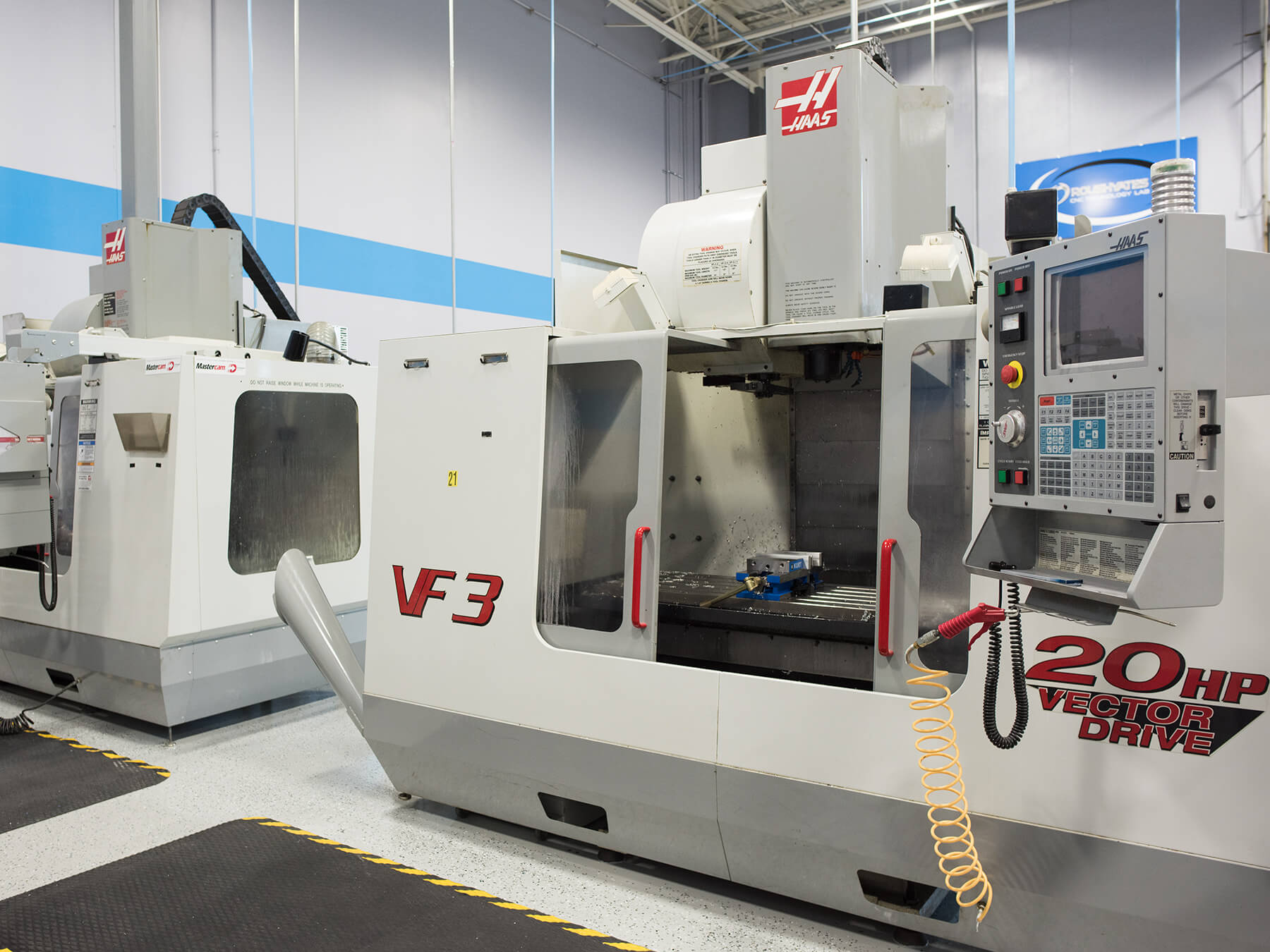 Photo of CNC Machines in the CNCLab at Mooresville campus
