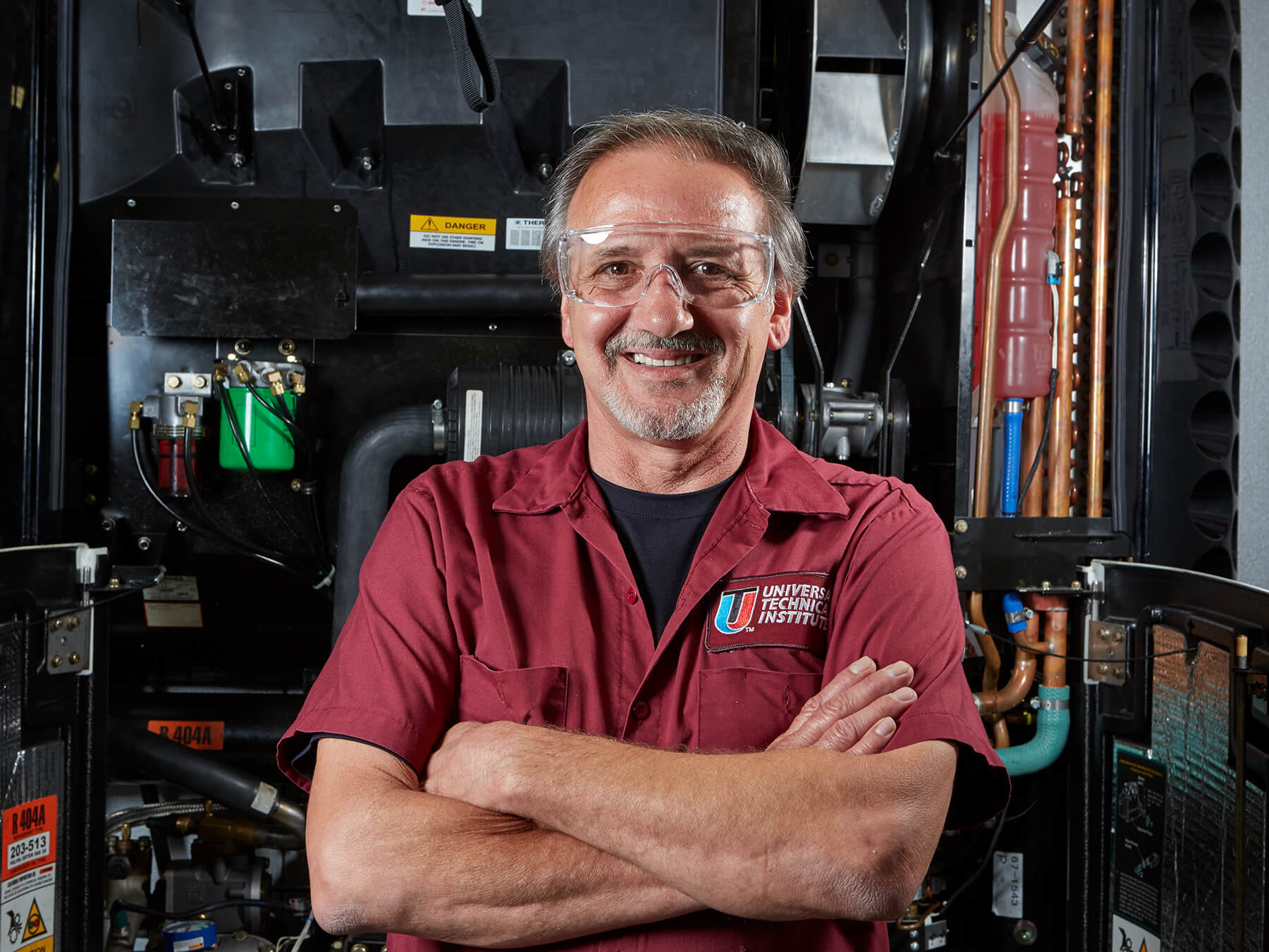 UTI instructor smiling  at the Dallas campus