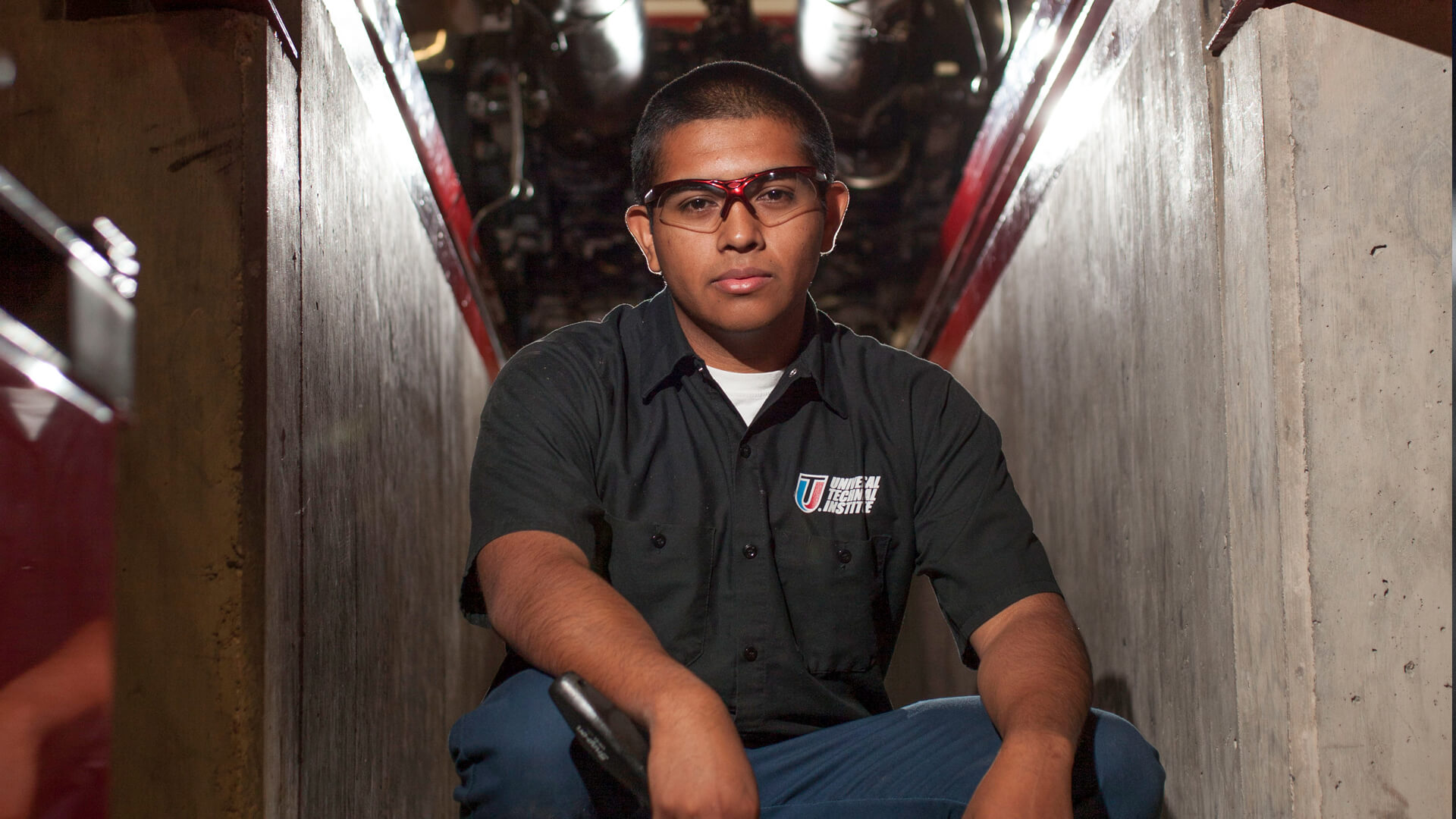 Portrait photo of a diesel student sitting