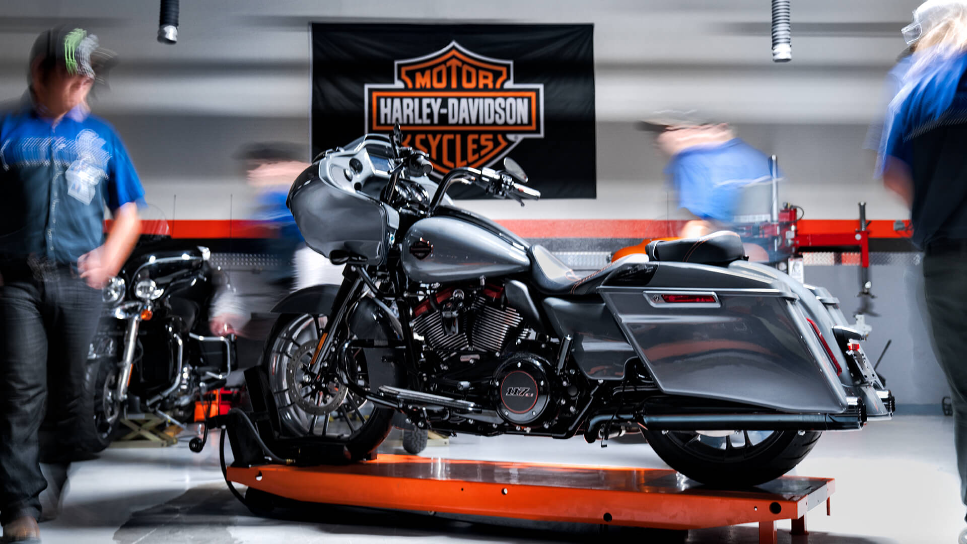 Harley Davidson being repaired at MMI