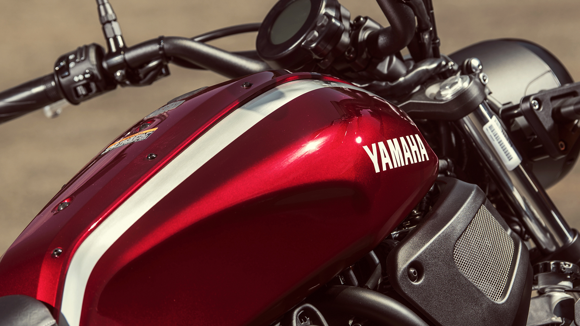 Red Yamaha motorcycle