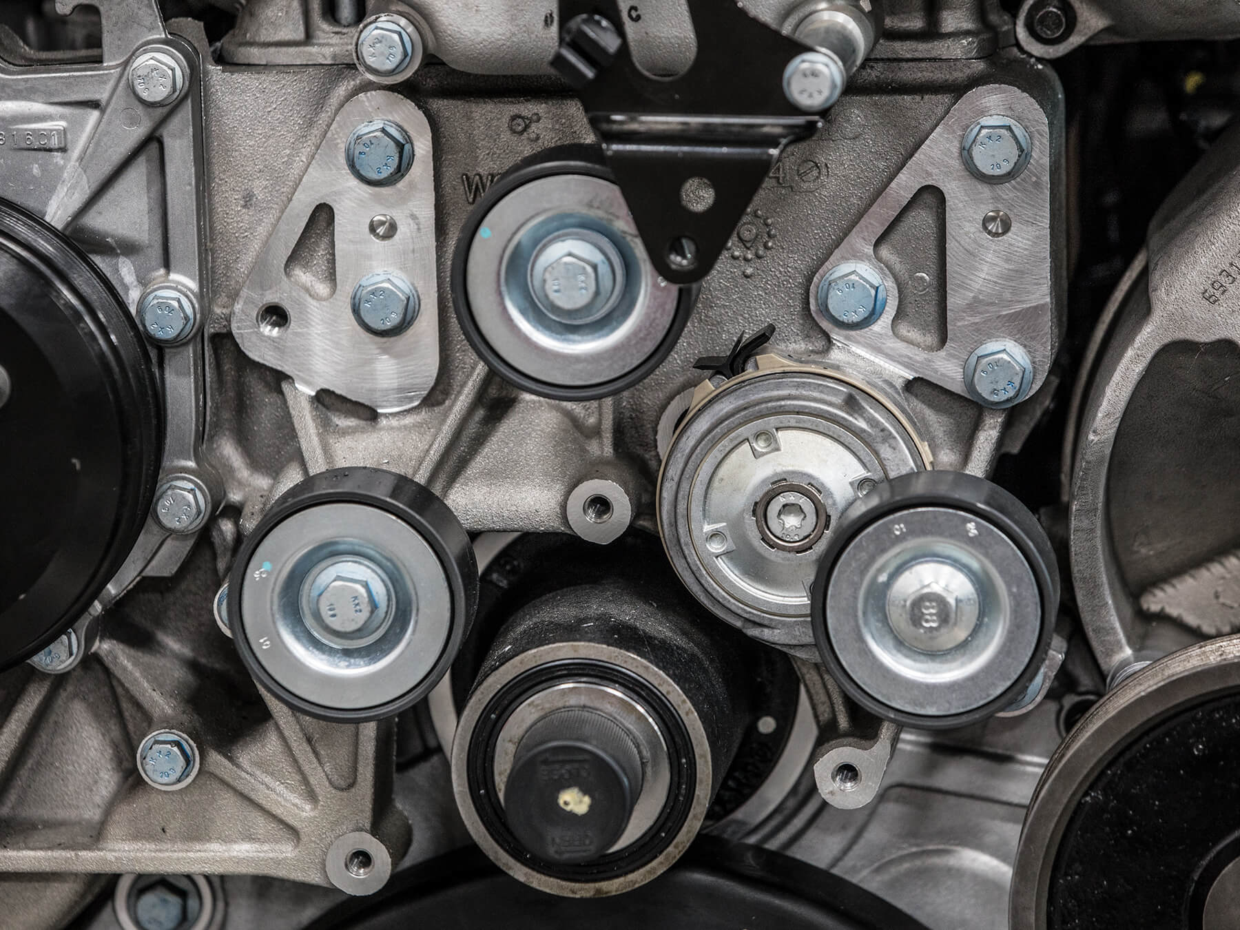 Close up photo of an engine